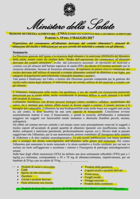 alluminio-Ministero SaliteImmagine